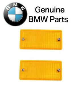 2 For BMW E28 E30 318i 325 325i 325iX 325is Turn Signal Light Lens 63131386611