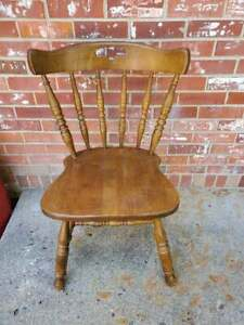 Vintage Mid Century Maple Dining Chair Keller Furniture Colonial Style #2