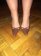 New without Box BCBG Brown Kitten heel Slingbacks 9.5