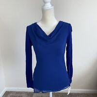 Inc Womens Petite Varsity Bright Blue Blouse Size PS N89