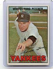 1967 TOPPS BASEBALL #5 WHITEY FORD, NEW YORK YANKEES, HOF, 122116