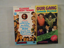 Classic Comedy Teams and Our Gang Comedy Festival on 2 VHS Tapes