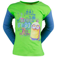Tee shirt manches longues MINIONS 4 ans Bleu / Vert enfant NEUF