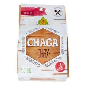 Chaga Tea / 100% Chaga Mushroom Tea with Roseship, 200gr