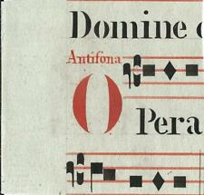 Manoscritto antico CAPOLETTERA O in rosso ANTIFONARIO MUSICA 1850 ca. Drop Cap