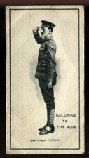 Tobacco Card, Imperial Canada, INFANTRY TRAINING, 1915, Saluting, #32