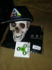 Combo package deal ark survival. evolved apparel.  hat,large shirt and spinner.
