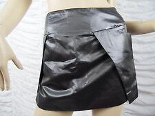 VANESSA BRUNO gunmetal metallic grey cotton silk blend mini skirt size 38 EUC