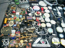 HUGE LOT OF MENS WATCHES TRINKETS COLLECTABLES JUNK DRAWER LOT JEWELRY SALE