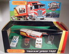 "Matchbox 1-75/convoy Giftset ""truckin 'speed trap"" estados unidos 1982 dioramabox"