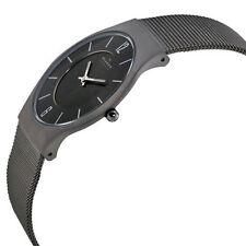 Skagen Charcoal Dial Titanium Slim 233LTTM Wrist Watch for Men