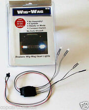 Wig-Wag Head / Tail Lighting For Model Police Cars - 4 WHITE & 2 RED LEDs
