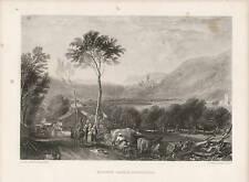 J.M.W. Turner Landscape Hornby Castle Yorkshire Antique