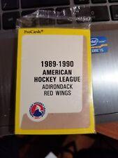 1989-90 Pro Cards AHL Adirondack Red Wings Hockey Team Set Sealed