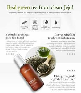 ISNTREE Green Tea Fresh Facial Emulsion Face Lotion for Dry Sensitive Skin 4.06