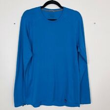 Patagonia Mens Large L Capilene Thermal Weight Crew Neck Tee Blue Long Sleeve