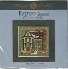 Christmas Cobbler House Counted Cross Stitch Glass Bead Mill Hill
