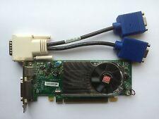 SFF DUAL DELL Y104D RADEON HD 3450 256 Mb PCIe uscita TV WINDOWS con 8 Splitter VGA