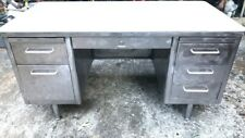 Vintage Mid Century Modern Steel Tanker Desk