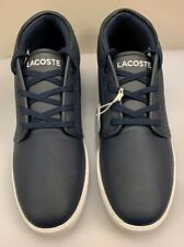 Lacoste Men 11.5 M US Amphill Mid Sneakers Top Navy Blue Leather NIB New $150