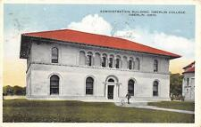 OH, Ohio  OBERLIN COLLEGE  Administration Building  LORAIN COUNTY  1916 Postcard