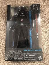 """DARTH VADER Star Wars Black Series 6"""" Figure BLUE LINE 02 Sealed"""