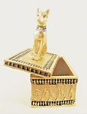 Egyptian Cat Goddess Bastet Replica Trinket Box Collectible Home Decor