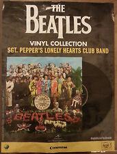 Promo poster BEATLES Vinyl Sgt Pepper's EDICOLA cd dvd Lennon McCartney Harrison