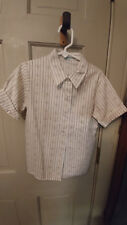 Girls Sz 8 Brown/White Official Girl Scouts Blouse Shirt