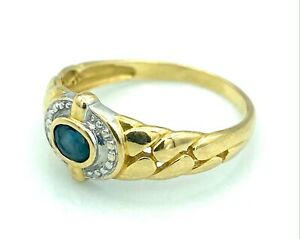 Magnifico Anello Oro 18 Carati - Zaffiro - 2,15 G