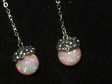 BEAUTIFUL FIERY DANGLE FLOATING KYOCERA AND AUSTRALIAN  OPAL EARRINGS