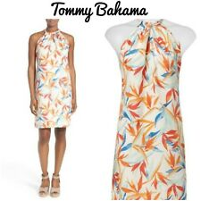 NEW! Tommy Bahama Women's DRESS Palms Of Paradise Leaves Linen Size XXS