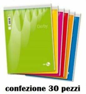 Set 30 Block Notes A Quadretti A7 8x12cm 60 Fogli Blocco Appunti moc