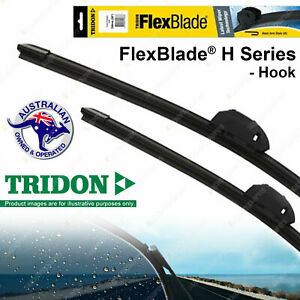 Pair Tridon Frameless Windscreen Wiper Blades for Land Rover Discovery III IV