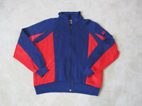 VINTAGE Nike Track Jacket Adult Large Blue Red Swoosh Spell Out Coat Mens 80s