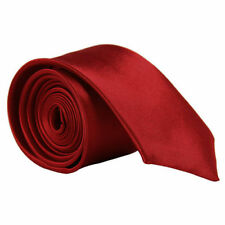 Skinny Slim Tie Solid Color Plain Silk Men Jacquard Woven Party&Wedding Necktie