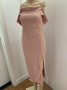 BNWT SNDYS Off Shoulder Party Cocktail Dress Size M/10 RRP$145 Salmon color