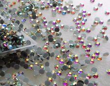750pcs DMC HOTFIX CLEAR AB GLASS CRYSTAL SS16 (3.8-4mm) Glass Rhinestone Iron On