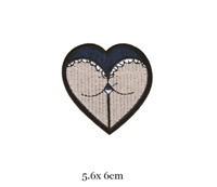 Butt Bum Heart - Rider Biker Iron on Embroidery Cloth Patch Sew on Badge Jacket