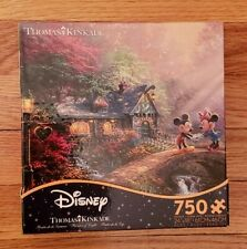 "New! Thomas Kinkade ""Mickey and Minnie Sweatheart Bridge"" 750 pcs. Ceaco Puzzle"