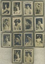 Lot of 14 circa 1910 C90 Imperial Tobacco Co. Actresses Tobacco Cards Sharp Lot!
