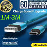 AU 1-3M Micro USB Fast Charging Data Sync Cable cord For Samsung HTC LG Android