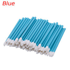50pc Beauty Disposable Makeup Lip Brush Lipstick Gloss Wands Applicator Cosmetic Blue