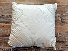 "New ""Vintage"" Ralph Lauren Home Cream Silk  Ivory Patchwork  Throw Pillows 22x22"