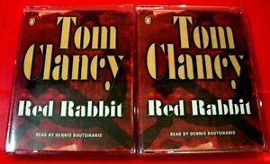 Tom Clancy Red Rabbit Jack Ryan 4-Tape Audio Book Dennis Boutsikaris Thriller