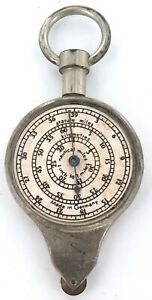 .cWW2 GERMAN MADE MAP MILEAGE WHEEL / OPISOMETER ? CMS - KMS  INCHES - MILES