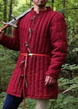 New Medieval Gambeson Red Color Reenactment Costume Sca Larp