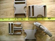 "Pair of New 1 1/2"" Duraflex Taupe Plastic Buckles/Stealth"