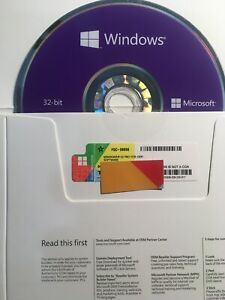 Microsoft Windows 10 Professional 32 Bit- Brand New (dvd Disc + Product Key )