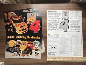 Kodak Film/ Ernie Irvan/ #4 NASCAR Chevy Post Card/ Merchandise Order Form, 1993